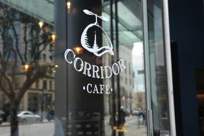 Corridor Cafe Signage